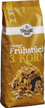 Knusper Frühstück 3-Korn 225 g